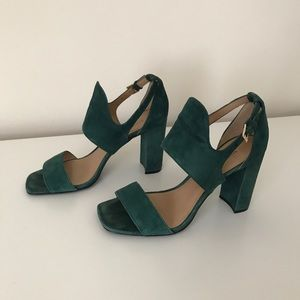 Banana Republic Suede Emerald Green Heels